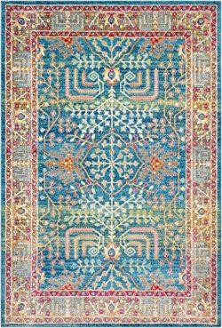 Surya Aura Silk-2′ x 3′ Area Rug 2′ x 3, 2′ x 3′, Bright Blue