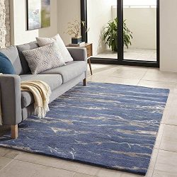Momeni Rugs ZEN00ZEN-2CBT80B0 Zen Collection, Wool & Banana Silk Hand Tufted Contemporary Ar ...