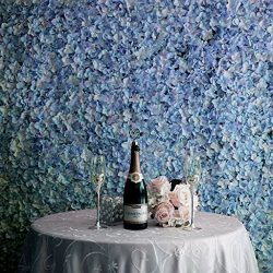 Efavormart 4 PCS Serenity Blue Silk Hydrangea Flower Mat Wall Wedding Event Decor