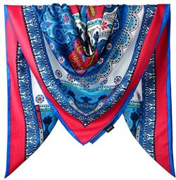 40 Inches Women Twill Satin Polyester Silk Feeling Hair Wrapping Sleeping Square Scarf / Amarant ...