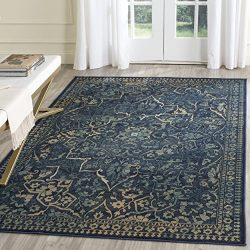 Safavieh Vintage Premium Collection VTG175-2333 Transitional Oriental Medallion Blue and Yellow  ...