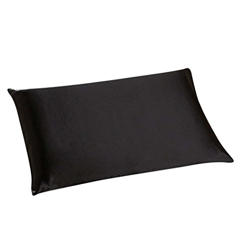 GBSELL Pillow Cover Silk Rectangle Throw Pillow Case Cafe Home Party Christmas Decor Cushion (Black)
