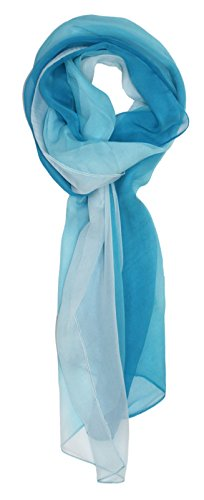 Ted and Jack – Silk Ombre Lightweight Accent Scarf (Light Blues)