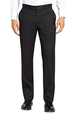 Gino Valentino Black Label Premium Wool Silk Flat Front Mens Dress Pants (29W – Unhemmed,  ...