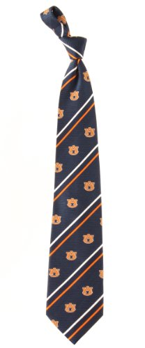 "Auburn Tigers NCAA ""Cambridge Stripe"" Men's Woven Silk Tie"