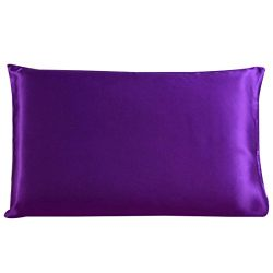 uxcell® 100% Pure Mulberry Charmeuse Silk Pillowcase Pillow Case Cover for Hair & Skin 19 Mo ...