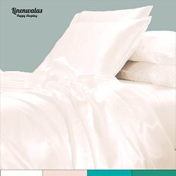 Linenwalas Todays Deal Bamboo Sheets – Softest Thermal Regulating Deep Pocket Bedding | Si ...
