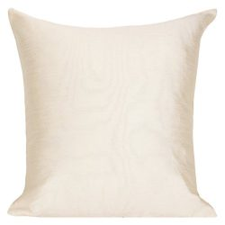 Set of 2 Cream Art Silk Pillow Covers, Plain Silk Cushion Cover, Solid Color Cream Throw Pillow, ...