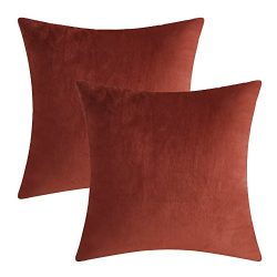 Luxury Velvet Silk Throw Pillow Covers Decorative Pillowcases Cushion Cover Soft & Smooth So ...
