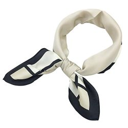 YOUR SMILE Silk like Scarf Women's Fashion Pattern Large Square Satin Bandanas Headscarf Headdre ...