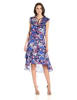 Parker Women's Sistine Combo Dress, rosebay, XS