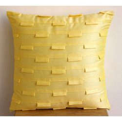 Designer Yellow Decorative Pillows Cover, Modern Decorative Throw Pillow Covers, 12″x12 ...