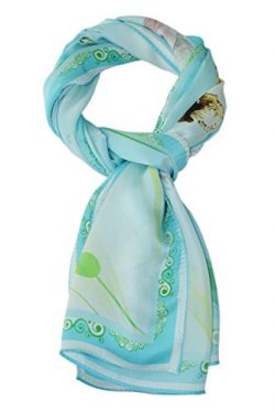 ELEGNA Women 100% Silk Art Collection Scarves Long Shawl (A-Palace Dance)
