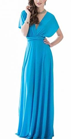 Sexyshine Women's Infinity Backless Gown Dress Multi-Way Wrap Halter Cocktail Dress Bandag ...