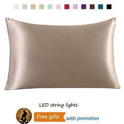 Furlove Luxury 100% Silk Pillowcase for Hair & Facial Beauty Queen Standard Size, Navy Blue  ...