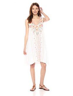 JWLA By Johnny Was Women's Calida Yoke Tank Tunic Dress, White, M