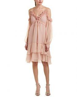 BCBGMax Azria Women's Caden Cold-Shoulder Dress, Tearose, S