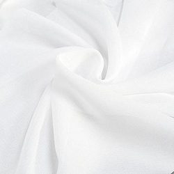 "Solid Chiffon Fabric Polyester Dress Sheer 58"" Wide By the Yard All Colors (10 YARD, White)"
