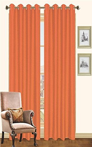 Kashi Home Holly Collection Faux Silk Window Panel / Curtain / Drape 55″x 84″ Lightw ...