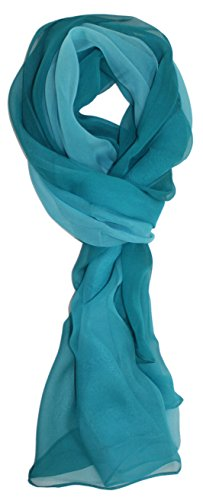 Ted and Jack – Silk Ombre Lightweight Accent Scarf in Azure Blue