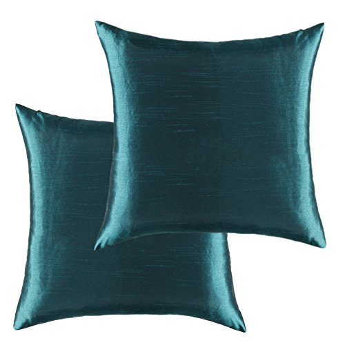 Kevin Textile Rectangular Faux Silk Decorative Throw Pillowcases Cushion Covers for Floor, Handm ...