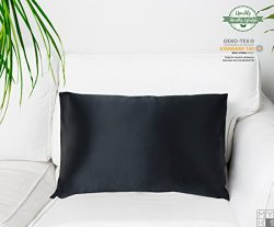 MYK 100% Pure Natural Mulberry Silk Pillowcase, 19 Momme Both Side for Hair & Facial Beauty, ...