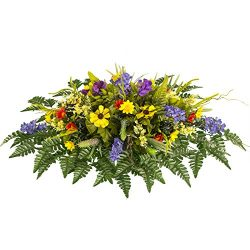 Purple Wildflower Mix Artificial Saddle Arrangement (SD1744)