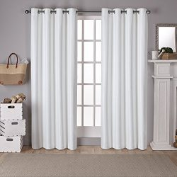 Exclusive Home Curtains Raw Silk Thermal Room Darkening Grommet Top Window Curtain Panel Pair, O ...