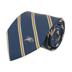 ZEP-PRO NCAA Georgia Southern Eagles Mens Woven Silk Thin Stripe Collegiate Logo Tie 2, Navy and ...