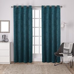 Exclusive Home Curtains Exclusive Home Antique Shantung Twill Woven Brushed Grommet Top Window C ...