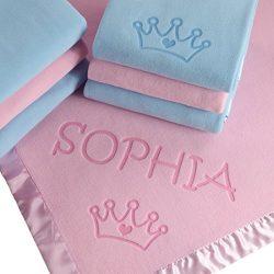 Custom Catch Princess Baby Blanket for Girls – Toddler Girl Crib Bedding, Receiving Blanke ...