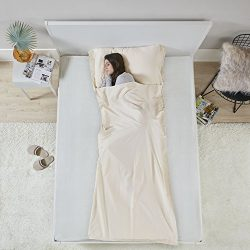 Hypoallergenic Sleeping Bag Liner Sheet – Ultra Light Compact Coolmax Anti Bug/Germs Sleeping Sa ...