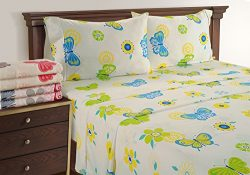 Butterfly Sheets – Ideal Teen Bed Sheets – 300 Thread Count King Sheets Deep Pockets ...