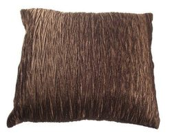 Faux Silk Crinkle Viva Cushion Cover 45cm x 45cm Cushion Covers 18 (Chocolate) by GC