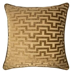 Homey Cozy Modern Velvet Maze Throw Pillow Cover,Bronze Brown Luxury Soft Fuzzy Cozy Warm Slik D ...