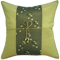Avarada 16×16 Inch (40×40 cm) Striped Mei Floral Flower Decorative Throw Pillow Covers ...