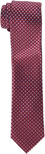 Tommy Hilfiger Men's Core Micro Tie, Red, Slim