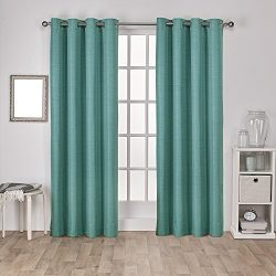 Exclusive Home Curtains Raw Silk Thermal Room Darkening Grommet Top Window Curtain Panel Pair, T ...