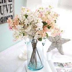 Artificial Flowers, Fake Flowers Silk Plastic Artificial Cherry Blossom Bridal Wedding Bouquet f ...
