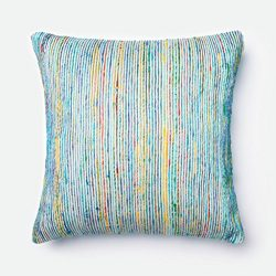Loloi Pillow, Cover Only/No Fill – Blue / Multi Pillow, 22″ x 22″