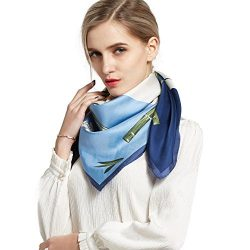 Pantonight Silk Scarf Luxurious Square 100% Mulberry Silk 14Momme Twill Hand Rolling Scarf (silk ...