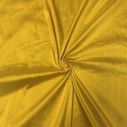 100% Pure Silk Dupioni Fabric 54″ Wide BTY Drape Blouse Dress Craft (Yellow)