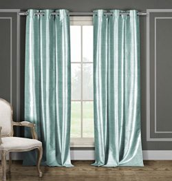 DUCK RIVER TEXTILES – Faux Silk Grommet Top Window Curtain 2 Panel Drape Bali, 38 X 84 Inc ...