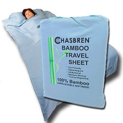 CHASBREN Travel Sheet – 100% Bamboo Travel Bedding for Hotel Stays and Other Travels ̵ ...