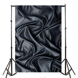 Photography Backdrops 5X7ft Vinyl HD Pretty Black Curtain Baby Newborn Birthday Photo Background ...