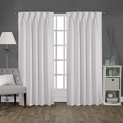Exclusive Home Curtains Sateen Pinch Pleat Woven Blackout Back Tab Window Curtain Panel Pair, Va ...