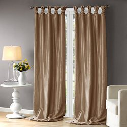 Taupe Curtains For Living room, Transitional Fabric Curtains For Bedroom, Emilia Solid Window Cu ...