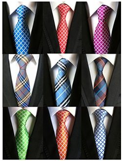 Welen Lot 9 PCS Classic Men's Tie Necktie Woven JACQUARD Neck Ties (Style 10)