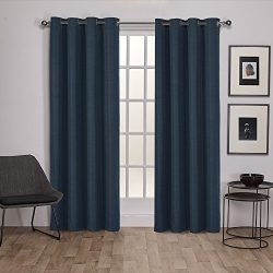Exclusive Home Curtains Raw Silk Thermal Room Darkening Grommet Top Window Curtain Panel Pair, M ...