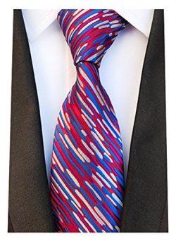 MINDENG New Men's silver 100% Silk Necktie Classic , Purple